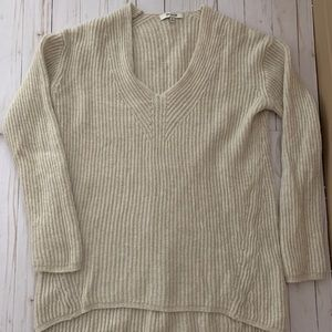 Tan madewell v neck sweater